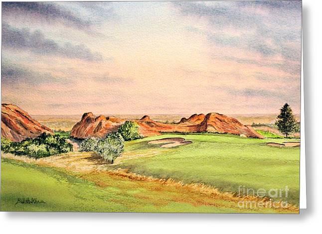 Arrowhead Golf Course Colorado Hole 3 Greeting Card by Bill Holkham