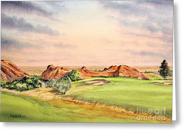 Trent Greeting Cards - Arrowhead Golf Course Colorado Hole 3 Greeting Card by Bill Holkham