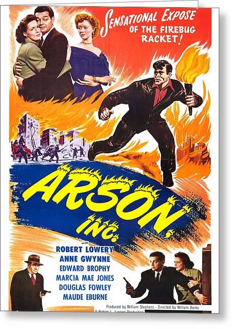 Arson Inc 1949 Greeting Card by Mountain Dreams