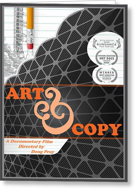 Art And Copy Dvd Cover Greeting Card by Leon Gorani