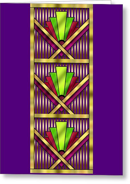 Cushion Greeting Cards - Art Deco 13 Tiles Greeting Card by Chuck Staley