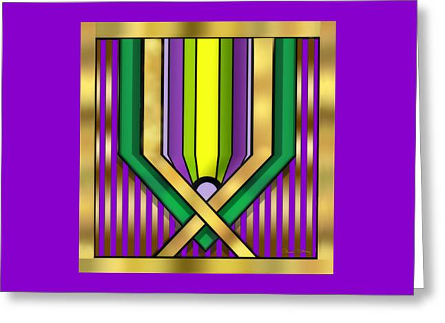 Staley Art Greeting Cards - Art Deco 14 A Transparent Greeting Card by Chuck Staley