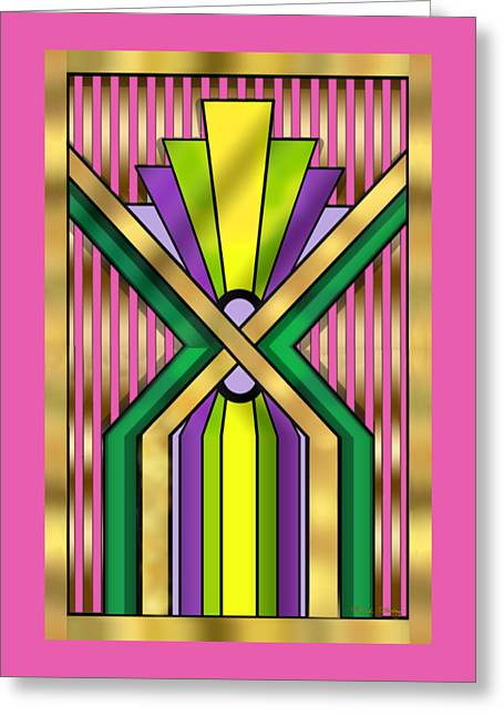 Staley Art Greeting Cards - Art Deco 14 B Transparent Greeting Card by Chuck Staley