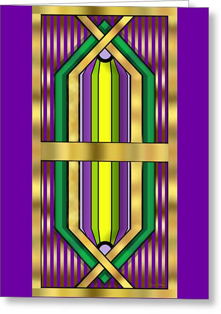 Art Deco 14 Vertical - Chuck Staley Greeting Card by Chuck Staley