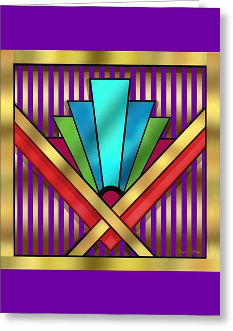 Caves Greeting Cards - Art Deco 15 Transparent Greeting Card by Chuck Staley