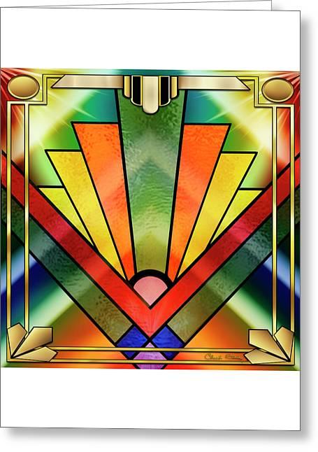 Art Deco Chevron 2 - Chuck Staley Greeting Card by Chuck Staley