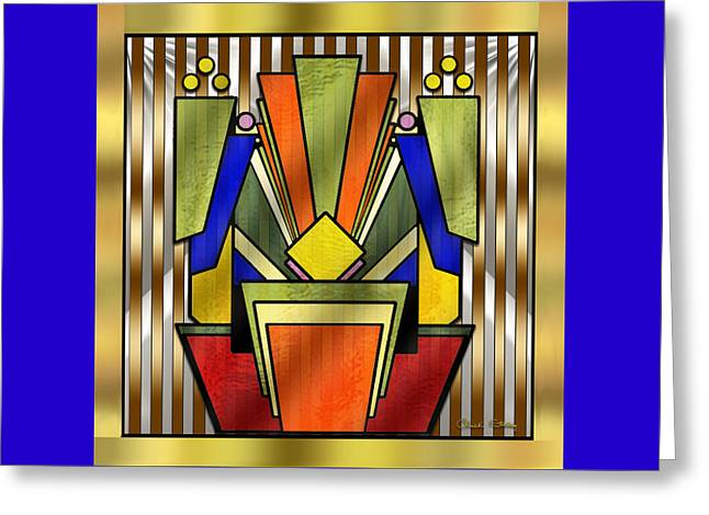 Art Deco 26 - Chuck Staley Greeting Card by Chuck Staley