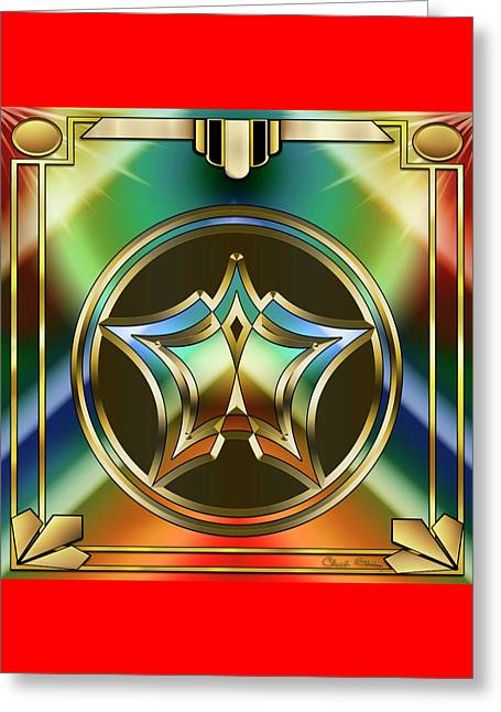 Art Deco 36 - Chuck Staley Greeting Card by Chuck Staley