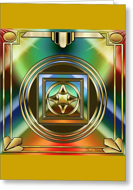Art Deco 37 - Chuck Staley Greeting Card by Chuck Staley