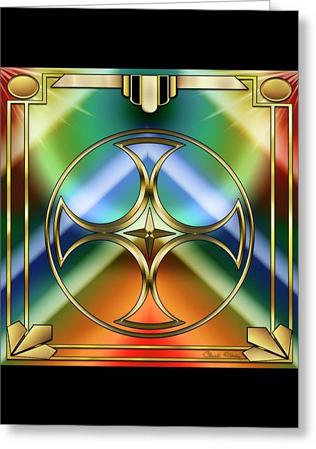 Art Deco 38 - Chuck Staley Greeting Card by Chuck Staley