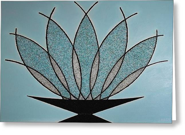 Glass Vase Greeting Cards - Art Deco Crystal Vase Greeting Card by Jose Masis-Oliver