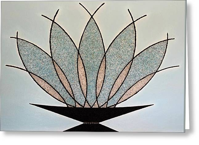 Glass Vase Greeting Cards - Art Deco Crystal Vase Greeting Card by Jose Masis