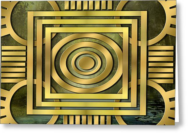 Art Deco Forest Greeting Card by Chuck Staley