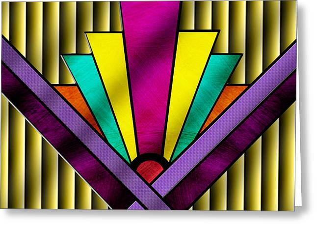 Staley Art Greeting Cards - Art Deco Pattern 11 Greeting Card by Chuck Staley
