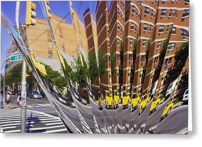 Crosswalk Greeting Cards - Art Deco Reflection Greeting Card by Joy Underhill