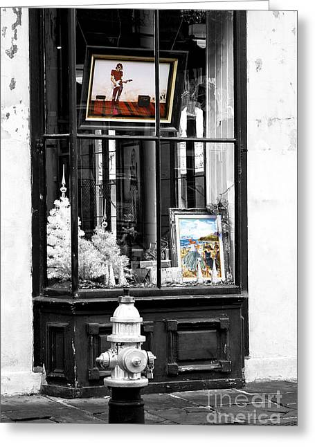 Photo Art Gallery Greeting Cards - Art Fusion in the French Quarter Greeting Card by John Rizzuto