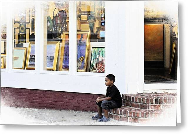 Store Fronts Greeting Cards - Art Gallery Greeting Card by Lilliana Mendez