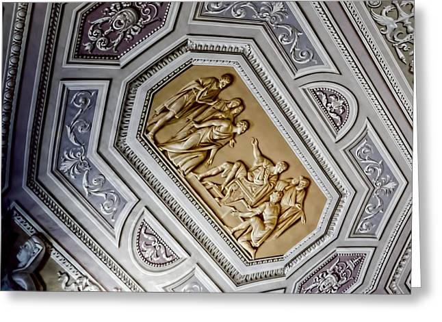 Creating Greeting Cards - Art Illusion - Vatican Museum Greeting Card by Jon Berghoff
