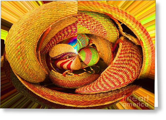 Basketmaking Greeting Cards - Art In A Nutshell Greeting Card by Ann Johndro-Collins
