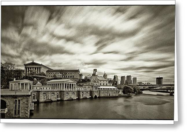 Philadelphia Art Museum Greeting Cards - Art Museum Time Exposer Greeting Card by Jack Paolini