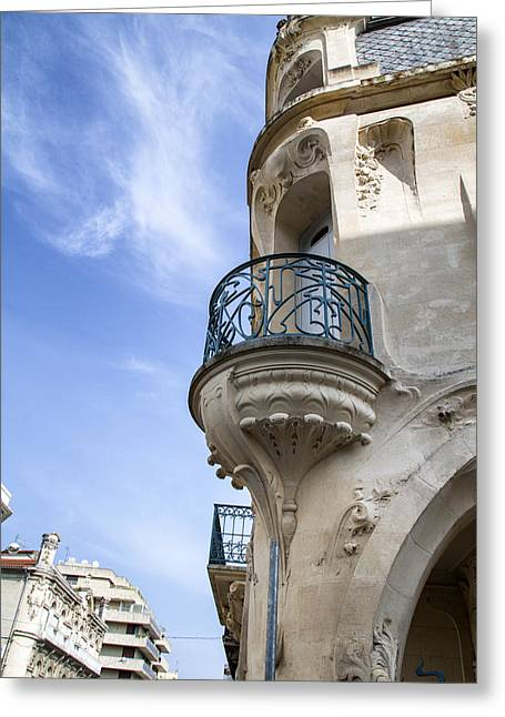 South West France Greeting Cards - Art Nouveau Balcony Greeting Card by Nomad Art And  Design