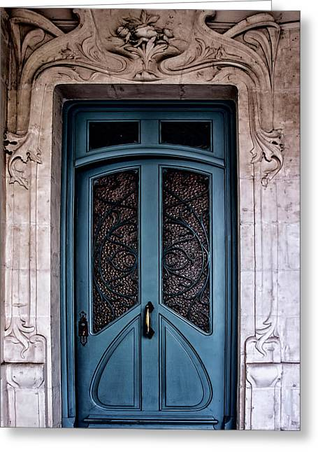 South West France Greeting Cards - Art Nouveau Doorway Greeting Card by Nomad Art And  Design