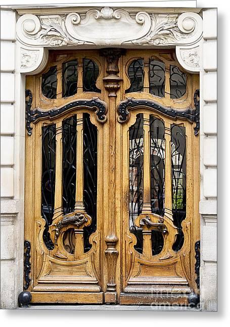 Art Nouveau Paris Door Greeting Card by Ivy Ho