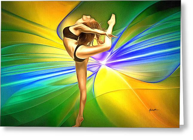 Art Of  Dance Greeting Card by Anthony Caruso
