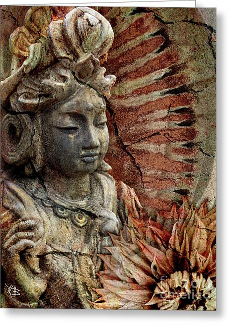 Goddess Greeting Cards - Art of Memory Greeting Card by Christopher Beikmann