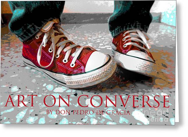 Conversing Digital Greeting Cards - Art On Converse Greeting Card by Don Pedro De Gracia