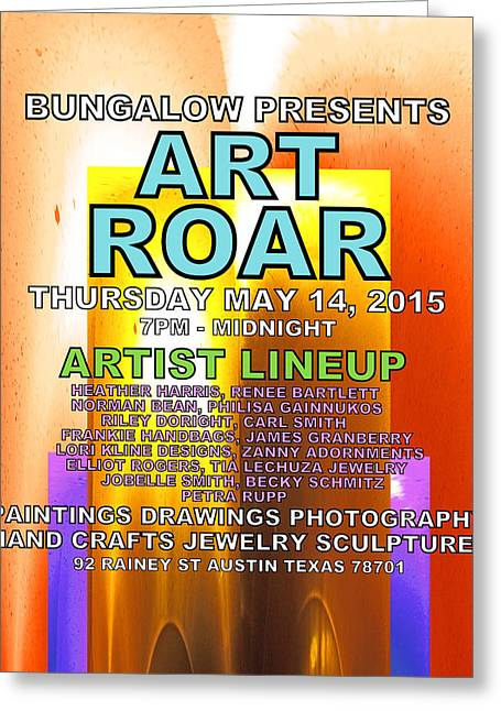 Austin ist Digital Greeting Cards - ART ROAR May 2015 Greeting Card by James Granberry