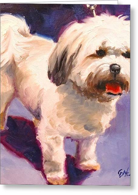 Art Show Dog 6 Greeting Card by Carol  Nelson