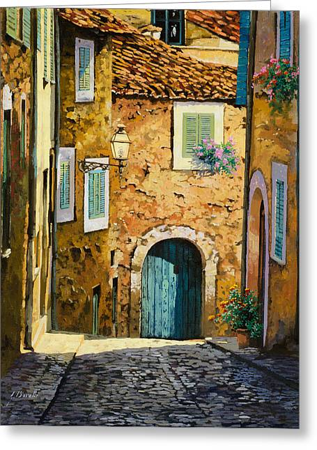 Blues Greeting Cards - Arta-Mallorca Greeting Card by Guido Borelli