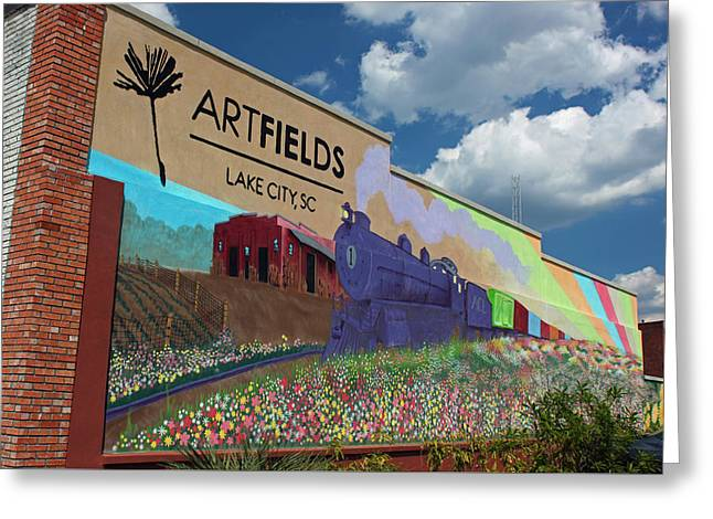 Paint Photograph Greeting Cards - Artfields - Lake City South Carolina Greeting Card by Suzanne Gaff