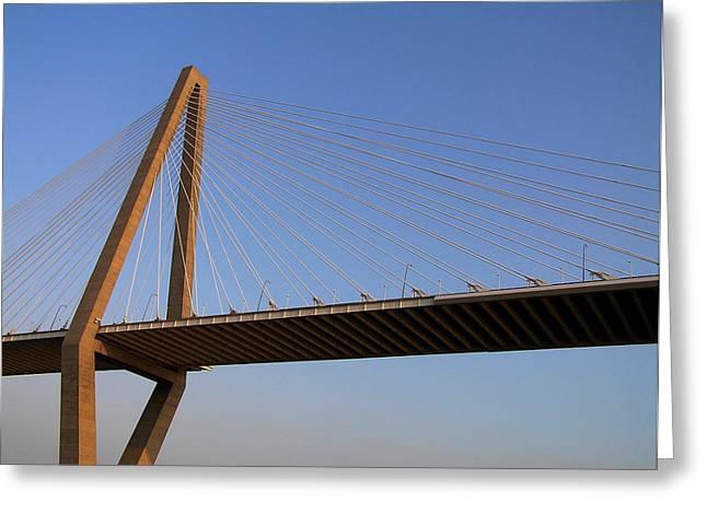Charleston Greeting Cards - Arther Ravanel Jr. Bridge Greeting Card by Dustin K Ryan