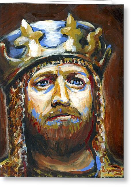 Grail Greeting Cards - Arthur King of the Britons Greeting Card by Buffalo Bonker