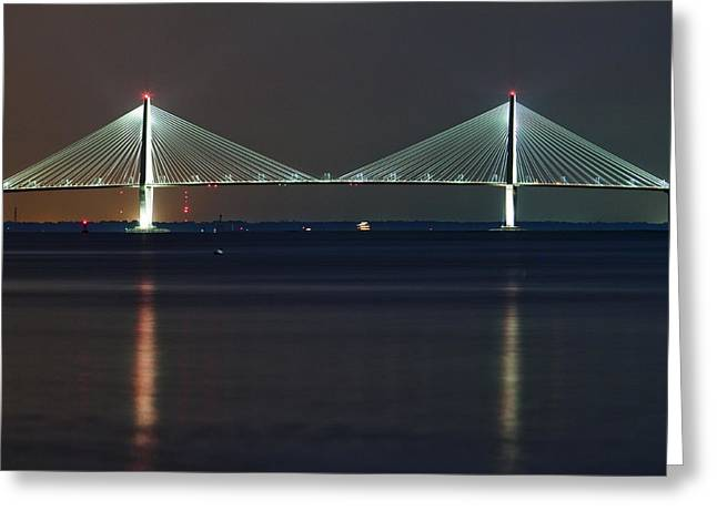 Arthur Greeting Cards - Arthur Ravenel Jr. Bridge II Greeting Card by Dustin K Ryan