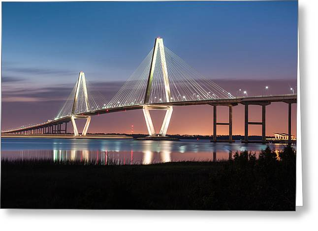 Arthur Greeting Cards - Arthur Ravenel Jr. Cooper River Bridge Charleston South Carolina Greeting Card by Mark VanDyke