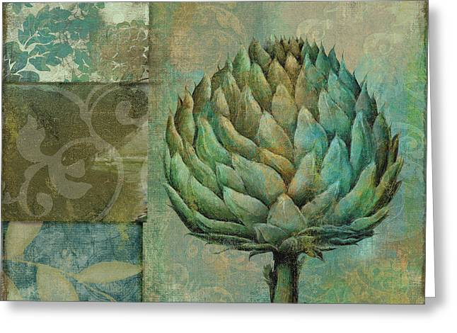 Artichoke Greeting Cards - Artichoke Margaux Greeting Card by Mindy Sommers