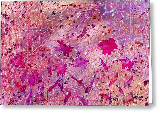 Female Fairy Abstract Greeting Cards - Artificial Flowers Greeting Card by Rachel Christine Nowicki