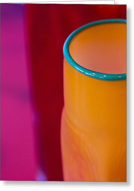 Tumbler Greeting Cards - Artisan Glass Greeting Card by Marion McCristall
