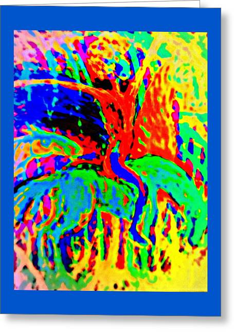 The Artist Of The Burning Rainbow  Greeting Card by Hilde Widerberg