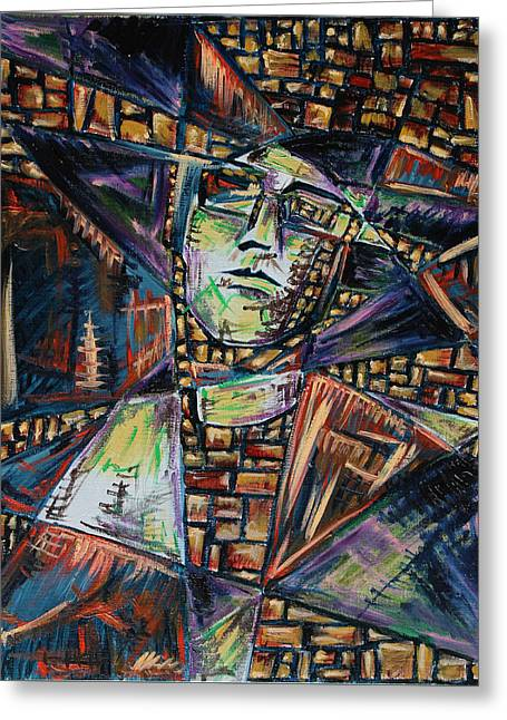 Abstract Expressionist Greeting Cards - Artist Greeting Card by Ava Dahm