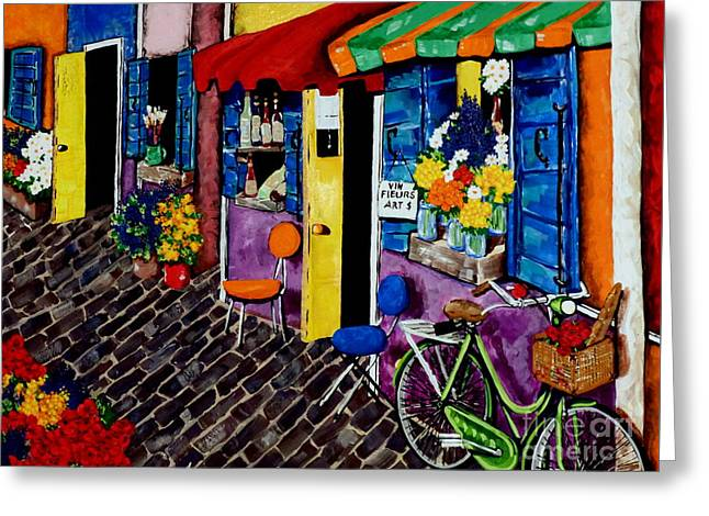 Wine-glass Greeting Cards - Artist Avenue Greeting Card by Jackie Carpenter