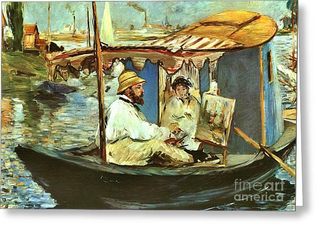 Artist Claude Monet 1874 Greeting Card by Padre Art