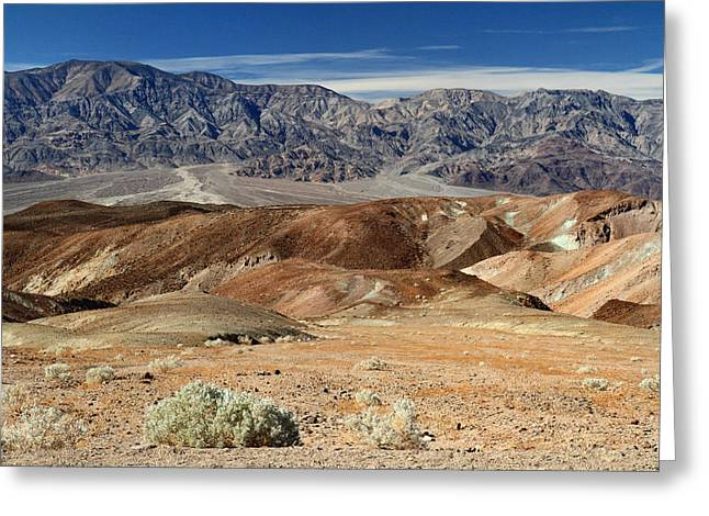 Road Trip Greeting Cards - Artist drive in Death Valley National park Greeting Card by Pierre Leclerc Photography