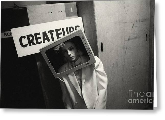 Portrait Photographs Greeting Cards - Artist in the box Greeting Card by Philippe Taka