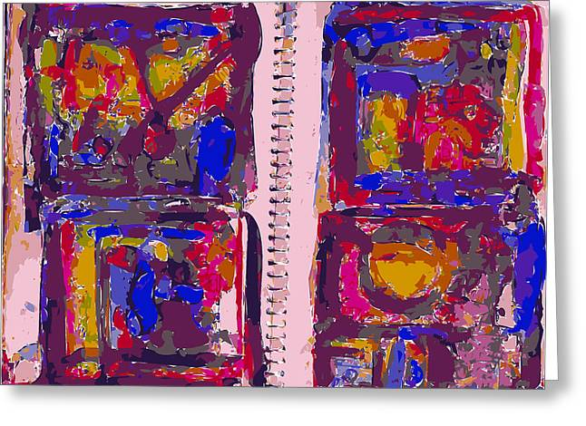 Sketchbook Greeting Cards - Artist Journal With Color Studies Greeting Card by F Burton