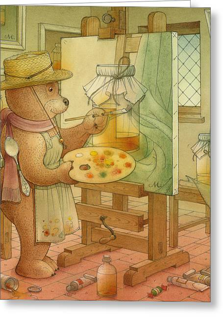 Artist Greeting Card by Kestutis Kasparavicius