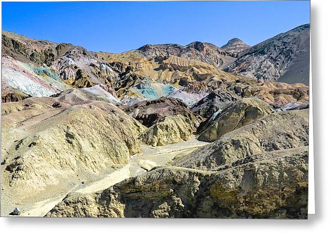 Geology Photographs Greeting Cards - Artist Palette Death Valley Greeting Card by Backcountry Explorers